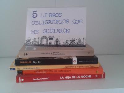 5 libros obligatorios que me gustaron: