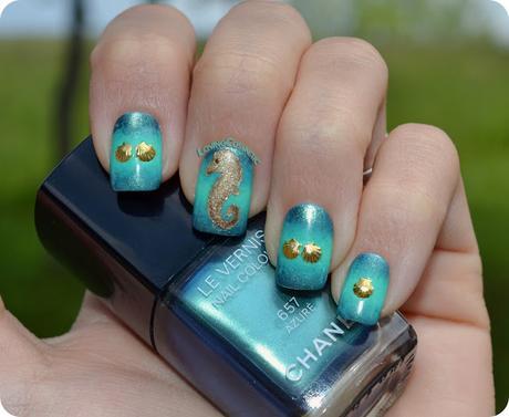 Nail Art - Caballito de Mar - ELYT