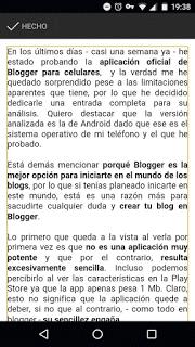 Probando la app oficial de Blogger para Android