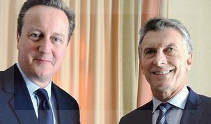 Mauricio Macri se encontró con David Cameron en el Foro de Davos.