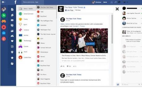 Flatbook una versión más limpia y moderna de Facebook