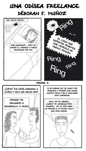 ¡Hoy comparto mi primer cómic! Una odisea freelance