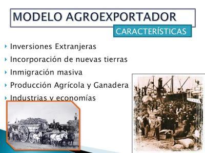 EL MODELO AGROEXPORTADOR. Aguilera y Mascari. Cuarto B de Humanidades