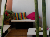 Jardinera bambú cartón