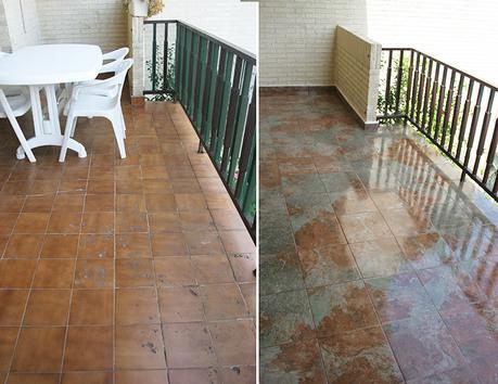 Antes y despu s de nuestra terraza c mo embaldosar un for Suelos terrazas exteriores baratos