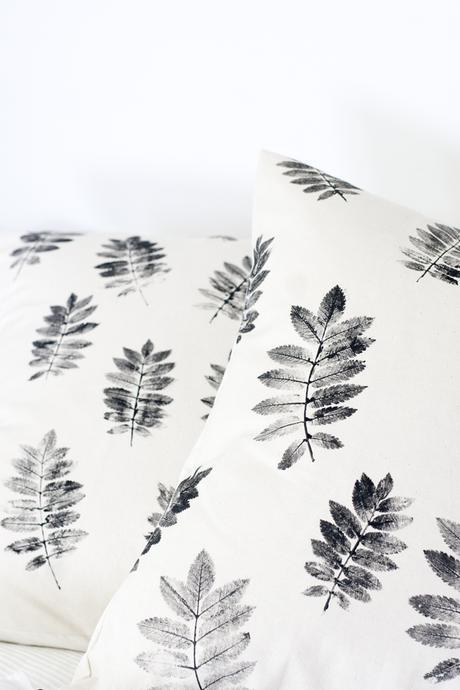 diy: pintura y hojas naturales para renovar tus textiles - Paperblog