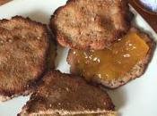 Galletas chufa, coco canela rellenas crema níspero