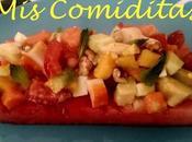 Ensalada sandia, mango, papaya aguacate