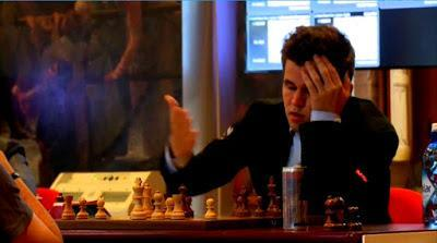"""Magnus Carlsen en el Leuven (YourNextMove) Grand Chess Tour (5ª ronda a 25' + 10"""")"""