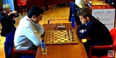"Magnus Carlsen en el Leuven (YourNextMove) Grand Chess Tour (9ª y última ronda a 25' + 10"")"