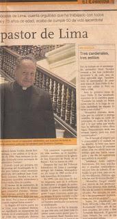 PROTAGONISTAS DE NUESTRA IGLESIA. Mons. RENÉ PAREDES (Arequipa 1924-Lima 2008)