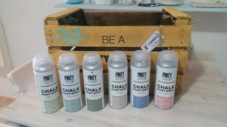 probando , probando Pinty plus chalk paint...