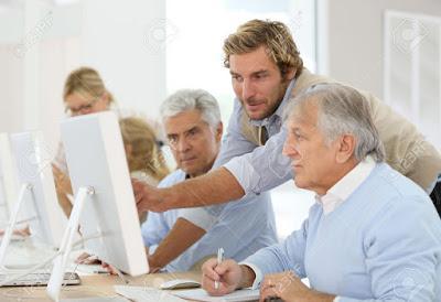 Adultos mayores y tecnología.