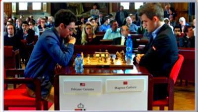 """Magnus Carlsen en el Leuven (YourNextMove) Grand Chess Tour (2ª vuelta a Blitz - 5' + 2"""")"""