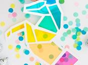 unicornio colores papel