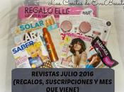 Revistas Julio 2016 (Regalos, Suscripciones viene)