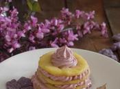 Torre manzana crema violetas