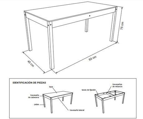 Planos para construir muebles de madera paperblog for Planos de mesas de madera pdf