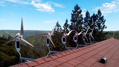 Viviendas en España con energía eólica.