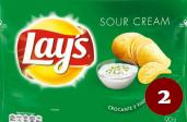 2- Papas fritas Lay's