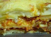 Lasaña magro cerdo, tomate quesos variados