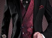 Traje novio negro corte entallado italiano modelo semi chaqué