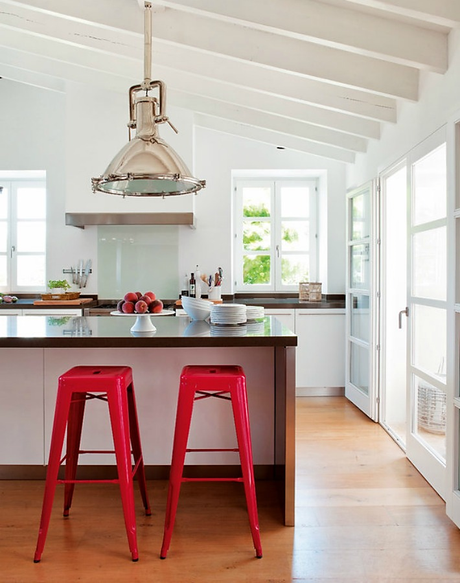 Medidas y consejos para instalar una barra en la cocina for Medidas isla cocina