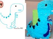 Estas animada hacer propia piñata Dinosaurio, pu...