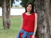 Vestido rojo corte recto