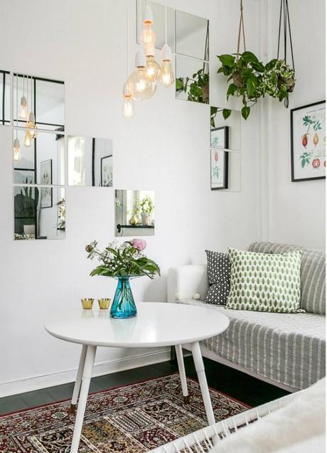 Como decorar un sal n muy muy peque o low cost paperblog - Como decorar un salon pequeno ...