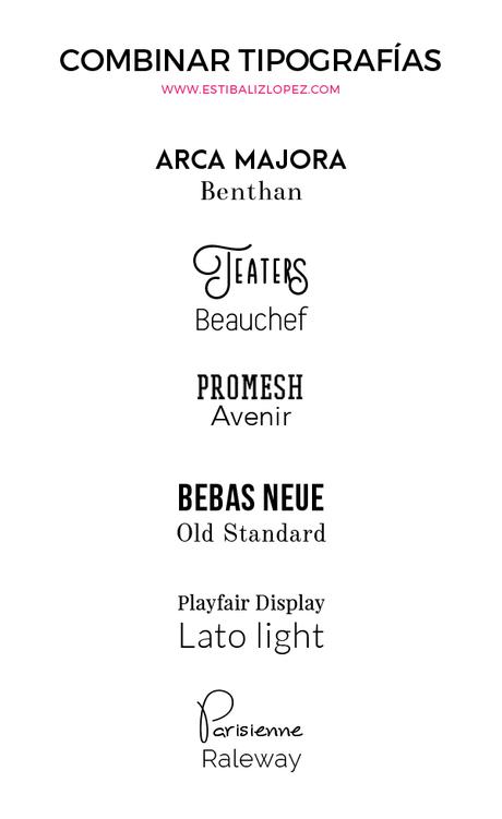 combinar tipografias para tu logotipo