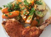 Pollo vegetales olla cocción lenta