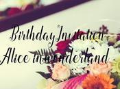 Invitación Años Alice Wonderland Handmade Birthday Invitation.
