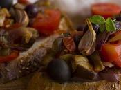 Tostas verduras asadas