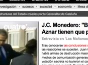 González, Aznar, guerra Irak investidura (Entrevista Cuatro)