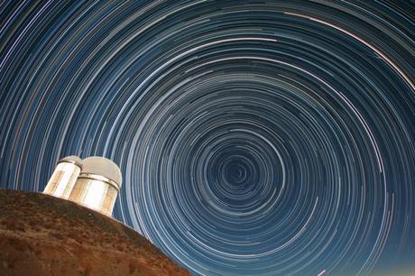 Star Trails Over The Eso 3 6 Metre Telescope