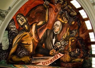 Jos clemente orozco murales y desgarro paperblog for El hombre de fuego mural de jose clemente orozco