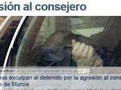 Consecuencias bulo fascista Caverna para culpar PSOE, CCOO agresión Consejero Murcia