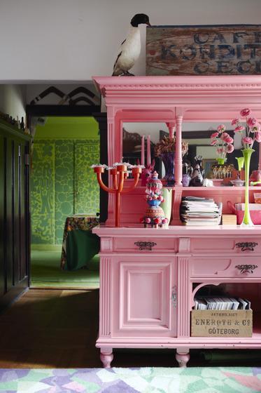 Cambiar aspecto mueble recibidor decorar tu casa es - Armarios antiguos pintados ...