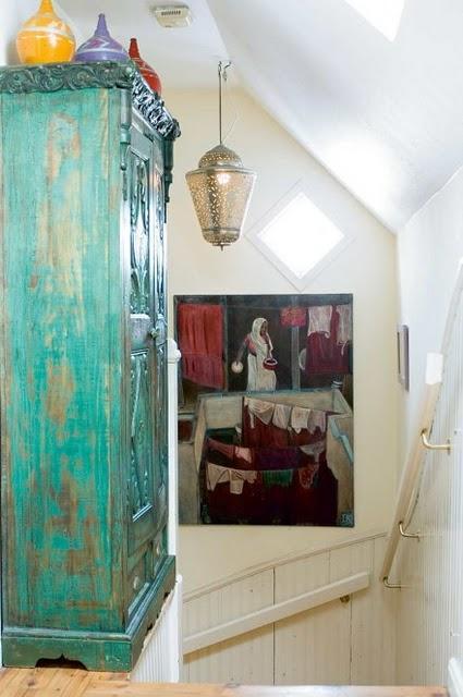 Muebles pintados manos a la obra paperblog - Armarios antiguos pintados ...