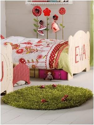 decora con la alfombra setas una habitacion de niña
