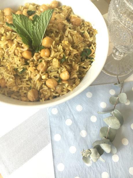 Finde frugal: mix de garbanzos y arroz Basmati al estilo oriental