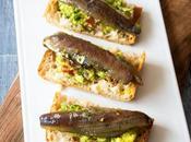 Pincho guacamole sardina marinada