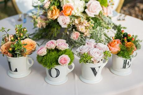 Flower decoration ideas for home- Teacup garden flower arrangement