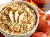 Desayuno saludable avena manzana miel