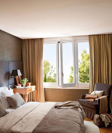 Cortinas con textura de seda natural para un dormitorio - Cortinas para dormitorio principal ...