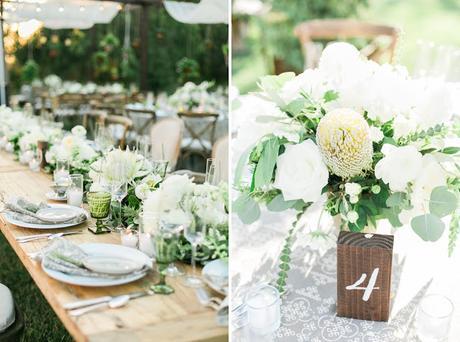 decoración de boda. madera y hojas verdes. - paperblog