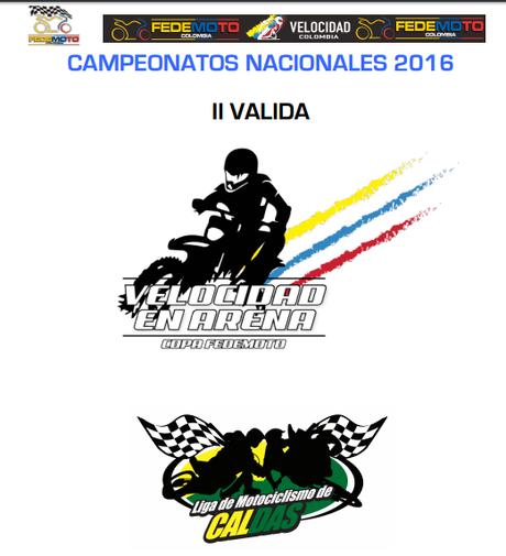 II Valida Velocidad en Arena Copa FEDEMOTO (Manizales, Caldas) 19 De Junio 2016