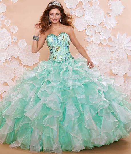865690274 Vestidos de 15 años color verde tiffany- Fotos - Paperblog