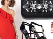 Combinar vestido rojo complementos negro